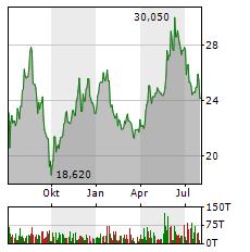 2G ENERGY Aktie Chart 1 Jahr