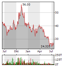 BITCOIN GROUP SE Jahres Chart