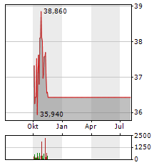 BOSTON SCIENTIFIC Aktie Chart 1 Jahr