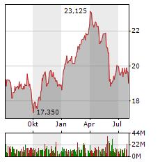DEUTSCHE TELEKOM Aktie Chart 1 Jahr