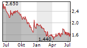 FIDIA SPA Chart 1 Jahr