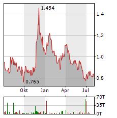 GOLDMINING Aktie Chart 1 Jahr