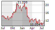 GOODYEAR TIRE & RUBBER COMPANY Chart 1 Jahr
