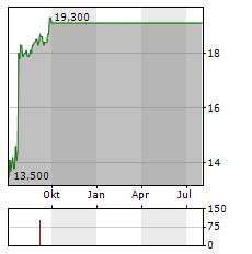 HANGER Aktie Chart 1 Jahr