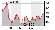 HP INC Chart 1 Jahr