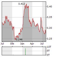 ISDN HOLDINGS Aktie Chart 1 Jahr