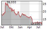 NETGEAR INC Chart 1 Jahr