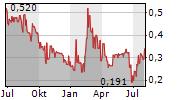 PASOFINO GOLD LIMITED Chart 1 Jahr