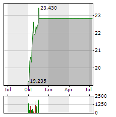 SANDVIK Aktie Chart 1 Jahr