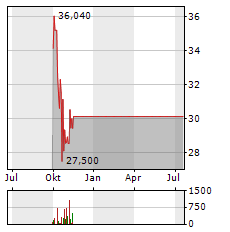XP INC Aktie Chart 1 Jahr